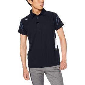 [Mizuno] トレーニングウェア ポロシャツ 半袖 スタンダード 吸汗速乾 32MA9170 ディープネイビー×ホワイト 日本 S (日本サイズS相当)