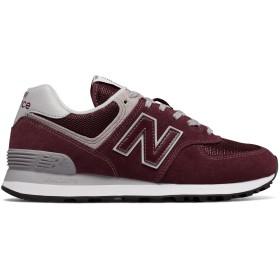 (ニューバランス) New Balance 靴・シューズ レディースライフスタイル 574 Burgundy with White バーガンディ ホワイト US 6.5 (23.5cm)
