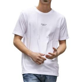 (エーエスエム) A.S.M Tシャツ メンズ 【人気スタイリスト @Inouen デザイン】メッセージ & ロゴプリント シンプル メッセージ Tシャツ 02-66-9766 50(L) ホワイト