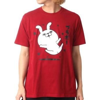 [ヨッシースタンプ] Tシャツ プリント 半袖 メンズ 柄4:(ボディ:レッド/プリント:ブラボー) L:(身丈68cm 肩幅44cm 身幅53cm 袖丈22cm)