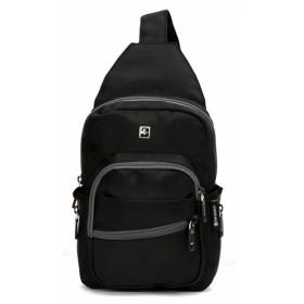 (スイスウィン)SWISSWIN ボディーバッグ レディース メンズ ワンショルダーバッグ ショルダーバッグ 斜めがけバッグ 防水 アウトドア バッグ 高校生 収納 機能性 体にフィットティアドロップ型 5L ブランド ブラック