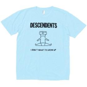 【ノーブランド品】 音楽 バンド ロック DESCENDENTS Tシャツ 水色 MLサイズ (M)