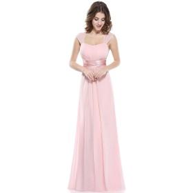 Ever Pretty レディース ハイウエスト 着痩せ感いっぱい ロング丈 セクシードレスUS8 ピンク EP08834PK08