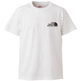 (ザ・ノース・ロケット)THE NORTH ROCKET 半袖 Tシャツ ホワイト XXXL ロゴ小