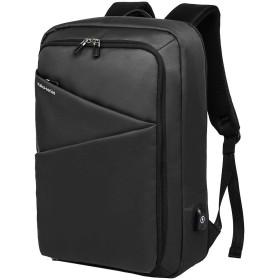 ビジネスリュック 3way メンズ 15.6インチpcバック USB充電ポート搭載 盗難防止リュック 防水バック 多機能 出張 旅行(黒)