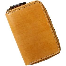 [マリッチ] カードケース 財布 クレジット カード ケース 高級 イタリア革 本革 じゃばら カード入れ (イエロー)