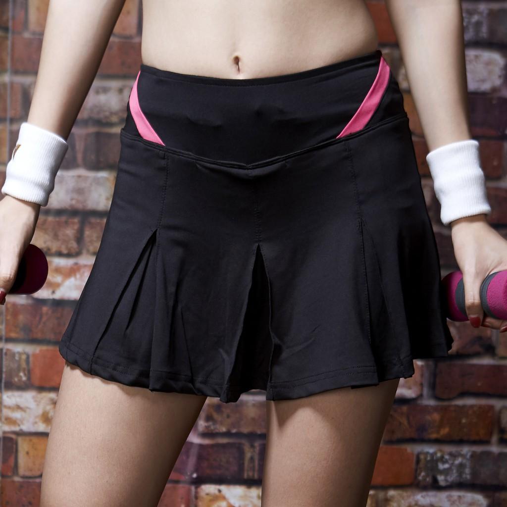 AREX SPORT 運動不走光假兩件短裙(慢跑、路跑、運動褲、瑜珈)