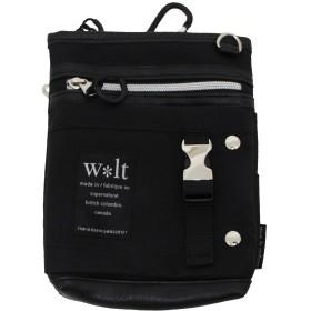 (ウォルト)WALT シザーバッグ ショルダーバッグ インケースフラップ2WAY ブラック