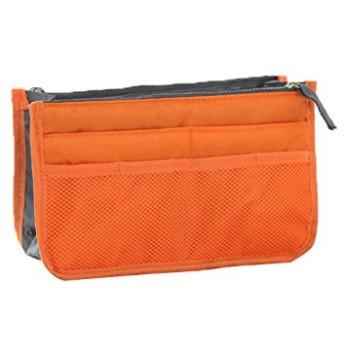 DICE バッグインバッグ インナーバッグ トートバッグ 整理 baginbag 収納 トラベルポーチ (オレンジ)