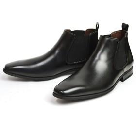 [フランコジョバンニ] ビジネスシューズ サイドゴア ブーツ メンズ ドレスシューズ シューズ 紳士靴 靴 27cm(27.5cm相当) Black ブラック 黒色