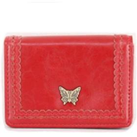 Gucciny&Co アーバンバタフライ マルチ パス・カードケース 小銭入れ付名刺入 (赤)