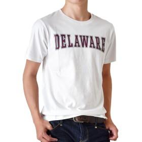 (アローナ)ARONA 半袖 Tシャツ メンズ アメカジ カレッジ プリント /M1.5/ A1ホワイト LL