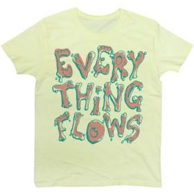 Tシャツ 有名な言葉 「万物は流転する」 デザイン タイポグラフィー Tee