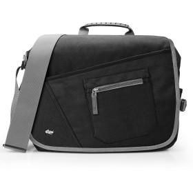[Qipi] ショルダーバッグ メンズ ブラックメッセンジャーバッグ (黒色)