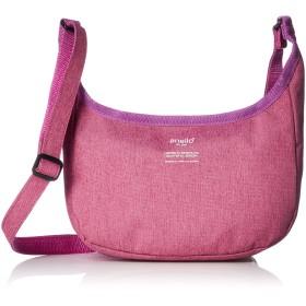 [アネロ] ショルダーバッグ 高密度杢調ポリ バナナショルダー ピンク