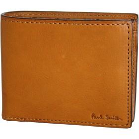 (ポールスミス) Paul Smith ソフトベジタンレザー 牛革 二つ折り 財布 (キャメル)