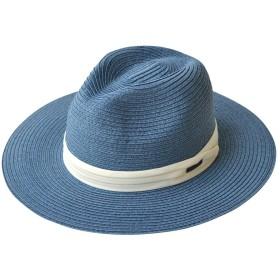 (エッジシティー)EdgeCity 麦わら帽子 折りたためる ロングブリム ミックスペーパーハット (17/ネイビー2)