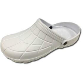 サンダル カルカル仕事人 HM9050 穴なしクロッグタイプ EVAサンダル 作業用 滑り止め 作業靴 ホワイト(カラー L(25.5~26.0))
