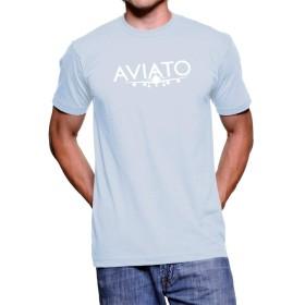 Artbox メンズ シリコンバレーエーリッヒバックマンAviatoロゴライトブルーTシャツ Sサイズ