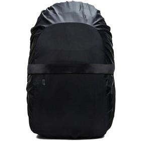 Frelaxy リュックカバー ファスナー付き 雨よけ ザックカバー 収納袋 (ブラック, S)