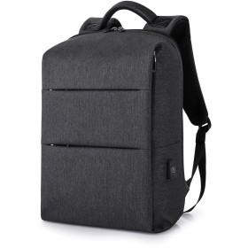 バックパック ビジネスリュック メンズ ラップトップバックパック リュックサック PCバッグ 15.6インチ 防水 usb充電ポート 通勤 通学 旅行 出張 大容量 耐衝撃 多機能 (ブラック)
