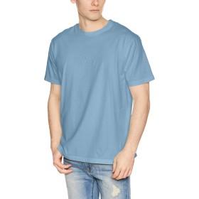 [ルーカ] [メンズ] 半袖 プリント Tシャツ (スタンダードFIT)[ AJ041-229 / FLIP SMALL RVCA SS TEE ] おしゃれ ロゴ DYB_ブルー US L (日本サイズL相当)