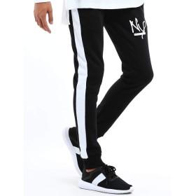 インプローブス スウェットパンツ ラインパンツ スウェット ジャージ ライン ジョガーパンツ メンズ ブラック M サイズ