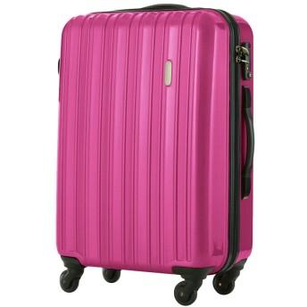LEGEND WALKER スーツケース ファスナータイプ ハードケース キャリーケース 58L 5096-58 (マゼンタピンク)