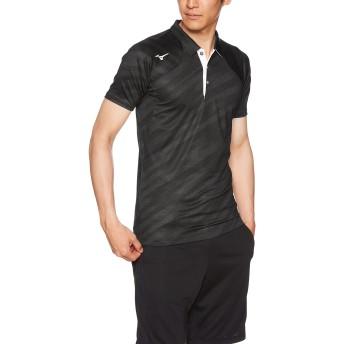 [ミズノ] テニスウェア ゲームシャツ 半袖 吸汗速乾 ドライ ストレッチ 部活 練習 試合 ソフトテニス バドミントン認定 男女兼用 62JA8012 ブラック XS