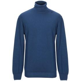 《期間限定セール開催中!》FRADI メンズ タートルネック ブルー XL バージンウール 100%