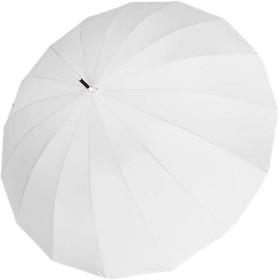 (ジャンーウェ)自動 コンパクト 長傘 16本骨傘 レディース 晴雨兼用 傘 風に強い傘 超撥水 男女兼用 無地 6色 ストーリー ホワイト