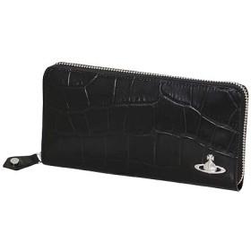 ヴィヴィアンウエストウッド (Vivienne Westwood)ラウンドファスナー 長財布 クロコ ブラック メンズ