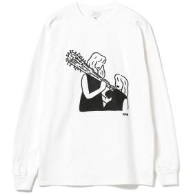 (ビームス)BEAMS/プリントTシャツ 771m × オートモアイ × BEAMS/別注 ロングスリーブ シャツ メンズ WHITE L