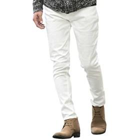 (エーエスエム) A.S.M メンズ パンツ スラックス ブライトスラブストレッチスキニー 02-12-8177 52(LL) ホワイト(01)