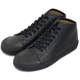 [スプリングコート] B2S-V5 B2 Leather (B2レザー) レディース ハイカットスニーカー BLACK (ブラック) SPC021-39-約24.5cm-25.0cm