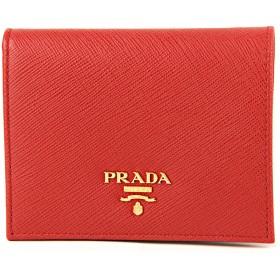 プラダ(PRADA) 2つ折り財布 1MV204 QWA F068Z サフィアーノ メタル レッド 赤 [並行輸入品]
