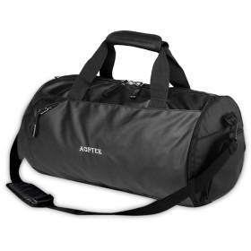 AGPTEK スポーツバッグ 大容量 シューズ収納 ジムバッグ ボストンバッグ 乾湿両用 外層防水 2WAY フィットネスバッグ 独立靴バッグ 内側キーバッグ & 財布バッグをデザイン 屋外旅行/出張に最適 (ブラック)