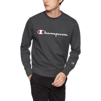 [チャンピオン] (旧モデル) スクリプトロゴクルーネックスウェットシャツ ベーシック C3-H004 メンズ ヘザーチャコール 日本 L (日本サイズL相当)