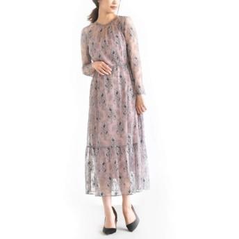 kaene カエン 花園 ワンピース オールレース/マキシ丈 ドレス (1.PURPLE, F (フリーサイズ))