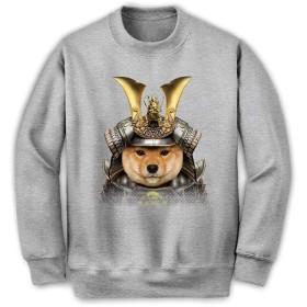 Fox Republic 【仔犬の柴犬 ドッグ 犬 いぬ 将軍 日本 JAPAN】 メンズ スウェット トレーナー グレー S