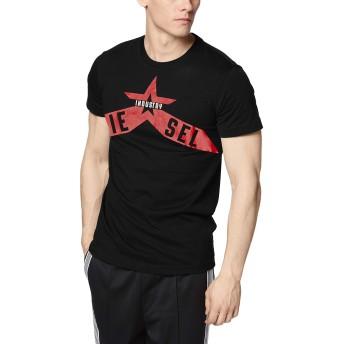 (ディーゼル) DIESEL メンズ Tシャツ グラフィックデザイン 00SW9T0CATM L ブラック 900