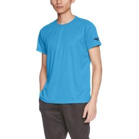 [Mizuno] トレーニングウェア 半袖Tシャツ 袖ロゴ 吸汗速乾 ドライ 32JA8156 ディーバブルー 日本 2XL (日本サイズ3L相当)
