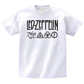 【】 音楽 バンド ロック LED-ZEPPELIN レッドツェペリン Tシャツ 白 MLサイズ