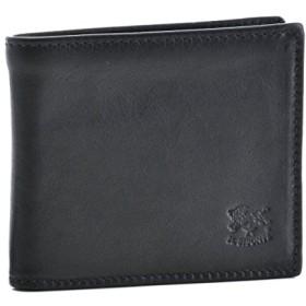 IL BISONTE(イルビゾンテ) 財布 メンズ カーフスキン 2つ折り財布 ブラック C0487-MPO-798 [並行輸入品]