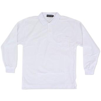 [大きいサイズ] メンズ 長袖鹿の子ポロシャツ 【メール便[×]非対応】