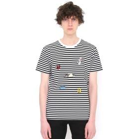 (グラニフ) graniph 刺繍 入り ボーダー Tシャツ (キャラクターオールスターズ) (ブラック) メンズ レディース L (g01) (g14) #おそろいコーデ
