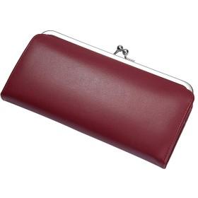 [レガーレ] がま口 ギャルソンタイプ 長財布 財布 レディース 本革 使いやすい 薄い財布 ガマ口 (ワインレッド)