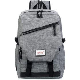 Venenos メンズアウトドアトラベルファッション大容量バックパック (Color : Gray)