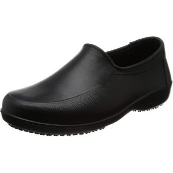 超軽量 軽くて滑らない 耐油 ガーデニングシューズ 厨房靴 (24.0cm, ブラック)