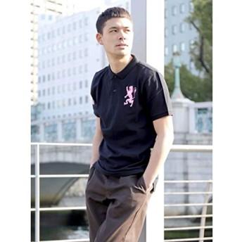 ジョルダーノ(メンズ)(GIORDANO) ライクラ素材【ストレッチ抜群】3Dライオン刺繍ポロシャツ【ブラックその他/XXL】